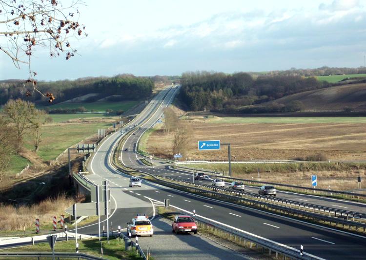 03 Autobahn Berlin Stettin Anschlussstelle Schmoelln