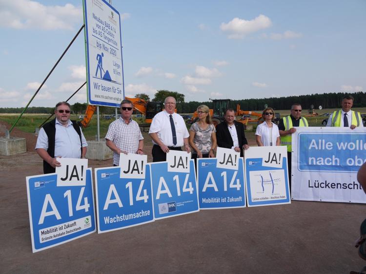 Spatenstich Weiterbau Bundesautobahn A 14 Colbitz Tangerhuette 49