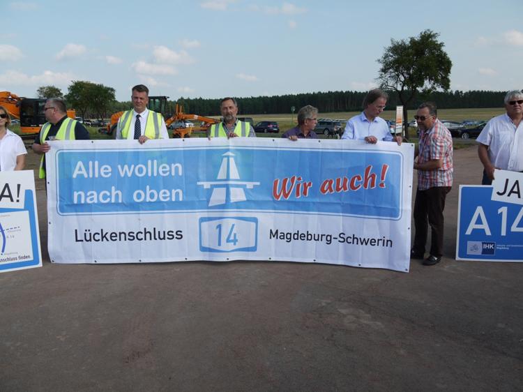 Spatenstich Weiterbau Bundesautobahn A 14 Colbitz Tangerhuette 50